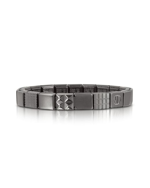 Nomination - Metallic Steel Ikons Geometric Brushed Stainless Steel Bracelet for Men - Lyst
