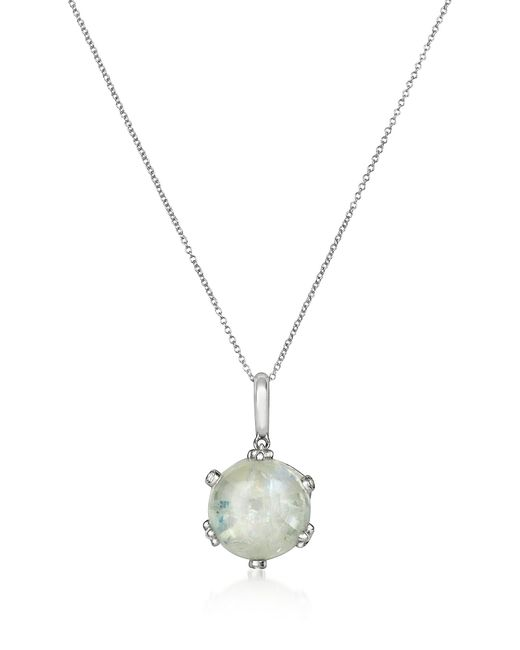 Mia & Beverly - White Spectrolite And Diamond 18k Gold Charm Necklace - Lyst