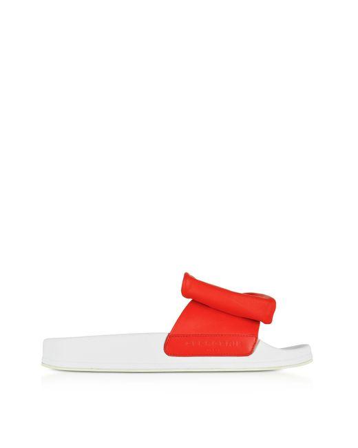 Robert Clergerie Orange Leather Sandals