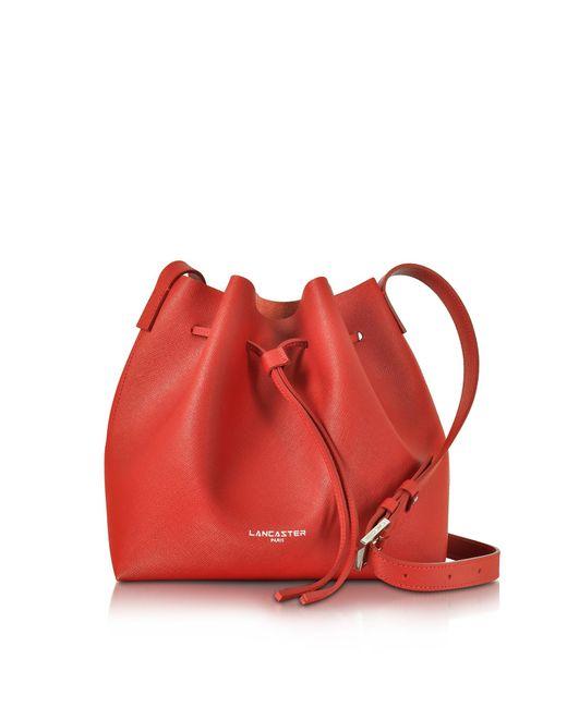 Lancaster Red Pur & Element Bucket Handtasche aus Saffianleder