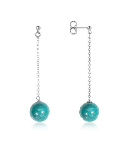 Antica Murrina | Blue Perleadi Turquoise Murano Glass Bead Earrings | Lyst