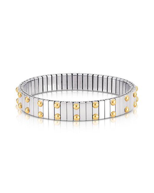 Nomination - Metallic Beads Stainless Steel W/golden Studs Women's Bracelet - Lyst