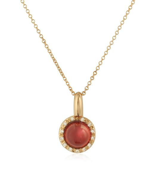 Mia & Beverly - Red Garnet And Diamond 18k Rose Gold Charm Necklace - Lyst