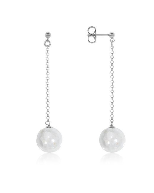 Antica Murrina | Perleadi White Murano Glass Bead Earrings | Lyst