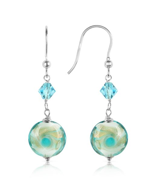 House of Murano | Multicolor Vortice - Turquoise Swirling Murano Glass Bead Earrings | Lyst
