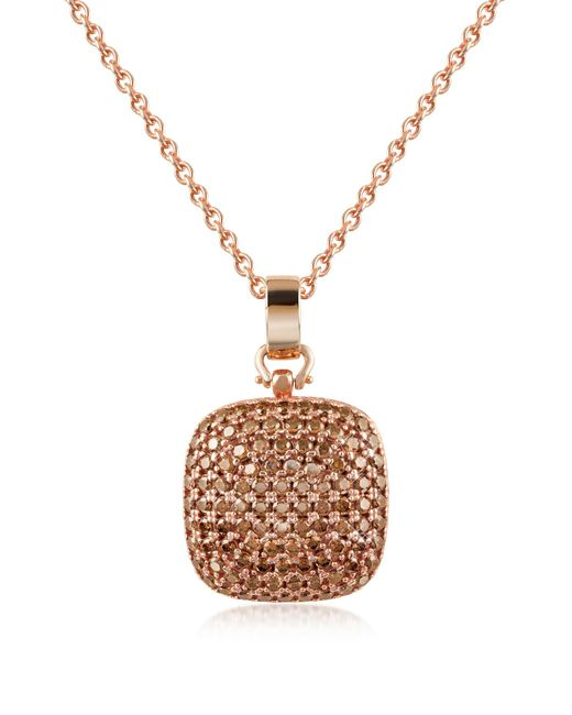 Azhar | Metallic Cubic Zirconia And Sterling Silver Square Pendant Necklace | Lyst