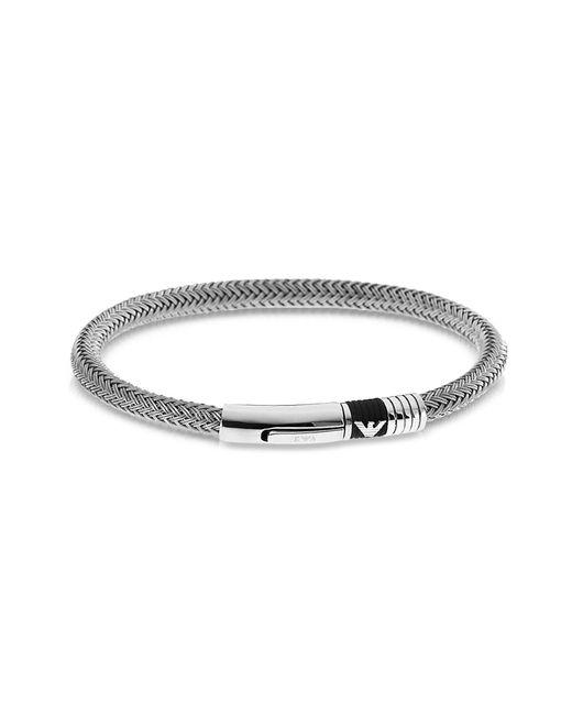 Emporio Armani - Metallic Iconic Woven Stainless Steel Men's Bracelet for Men - Lyst