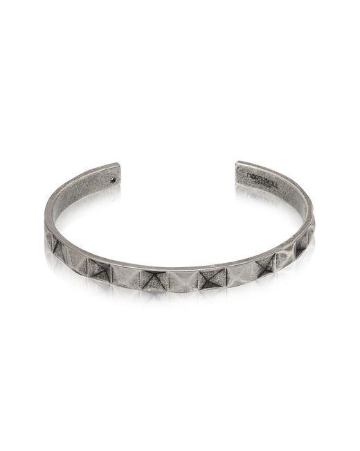 Northskull - Metallic In 'n' Out Aged 925 Silver Plated Brass Cuff - Lyst