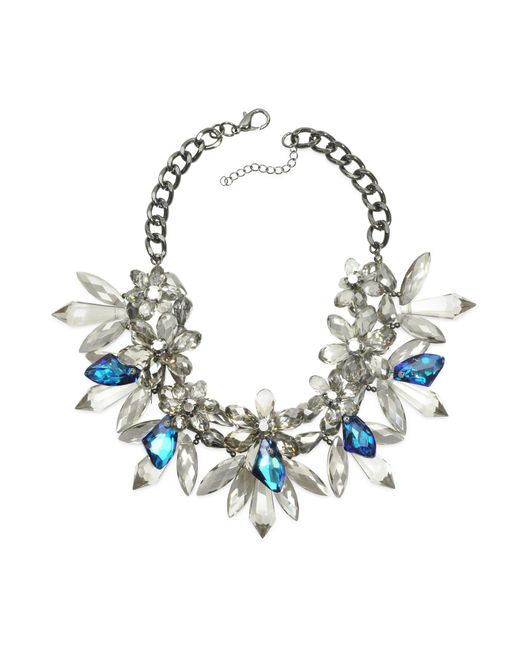 Anabela Chan - Blue Crystal Bloom Necklace - Lyst