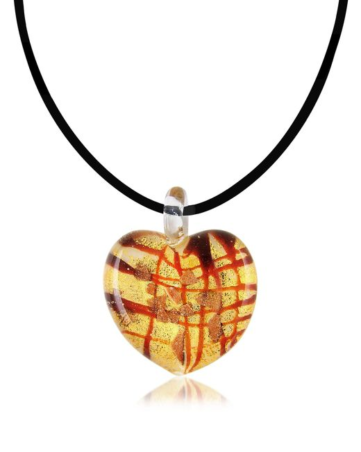 Antica Murrina - Red Passione - Murano Glass Heart Pendant - Lyst