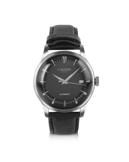 Forzieri - Savona - Black Croc-embossed Automatic Watch for Men - Lyst
