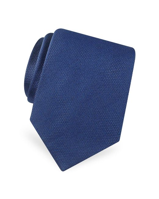 Forzieri - Blue Gold Line Solid Classic Woven Silk Tie for Men - Lyst
