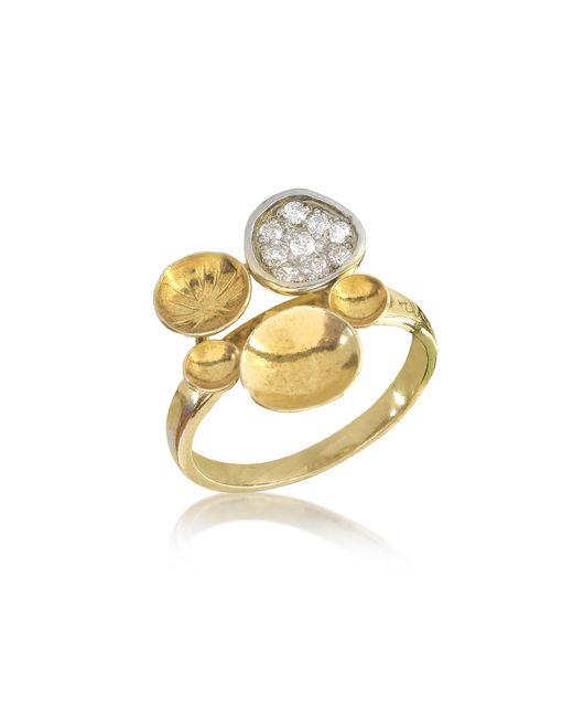Orlando Orlandini | Metallic 18k Yellow Gold Ring W/diamond | Lyst