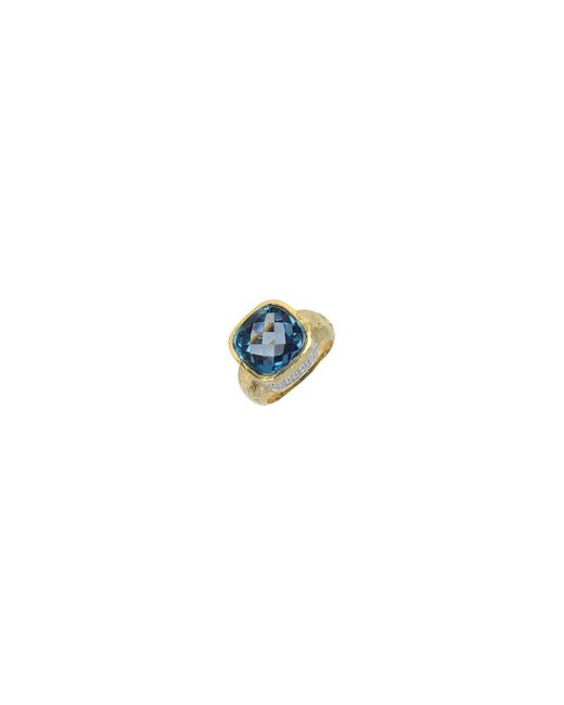 Torrini - Metallic Stefy - Topaz And Diamonds Yellow Gold Ring - Lyst