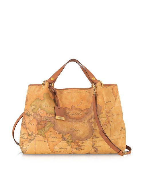 Alviero Martini 1A Classe Brown Geo Printed Large 'contemporary' Handbag