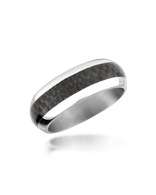 Zoppini - Metallic Zo Dark - Carbon Fiber & Stainless Steel Band Ring - Lyst