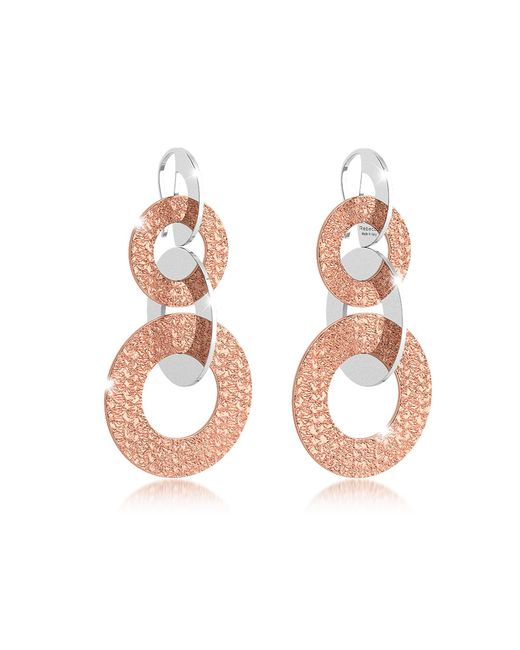 Rebecca | Pink R-zero Rose Gold Over Bronze Dangle Earrings | Lyst