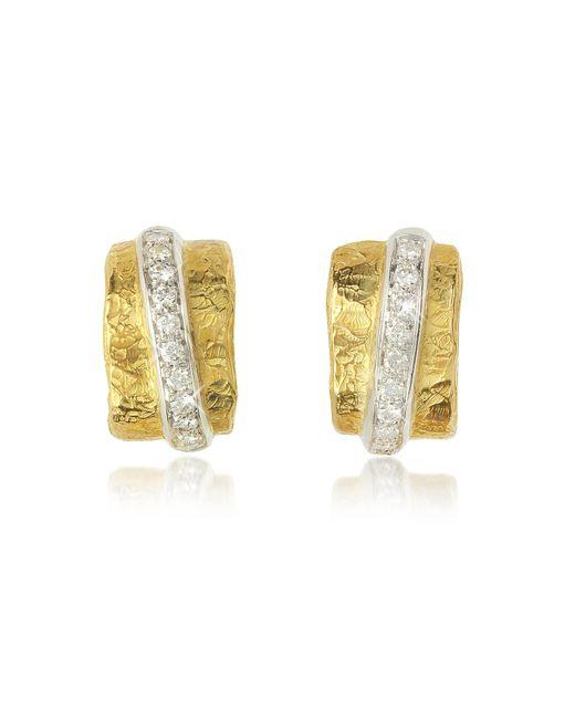 Torrini - Metallic Nancy - 18k Yellow Gold And Diamond Earrings - Lyst