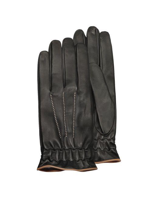 Gants homme en cuir noir doublés cachemire Forzieri pour homme en coloris Black