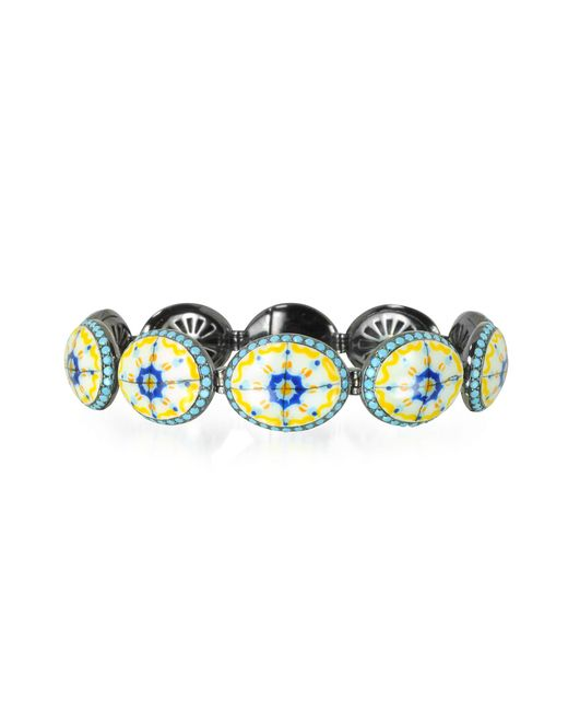Azhar | Multicolor Capri Silver Zircon And Enamel Bracelet | Lyst