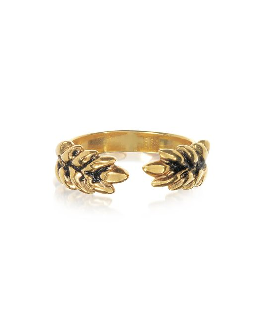 Aurelie Bidermann | Metallic 18k Gold-plated Two Cobs Wheat Ring | Lyst