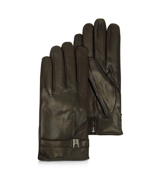 Moreschi - Alaska Dark Brown Leather Men's Gloves W/cashmere Lining for Men - Lyst