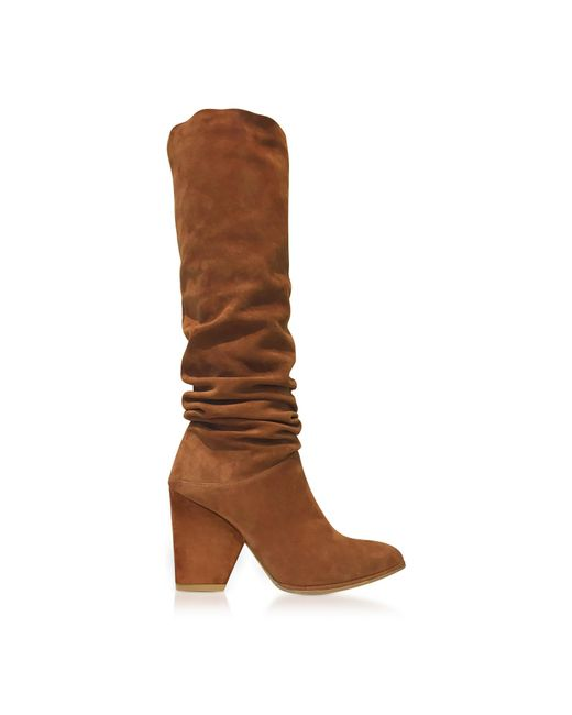Stuart Weitzman - Smashing Amaretto Brown Suede High Heel Boots - Lyst