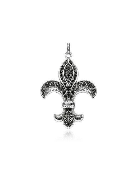 Thomas Sabo Rebel Icon Sterling Silver Bourbon Lily Pendant w/ Cubic Zirconia in Metallic für Herren