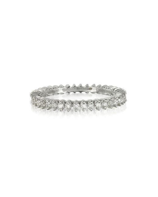 Forzieri | White Gold And Diamonds Eternity Band Ring | Lyst