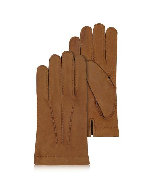 Forzieri - Brown Braune Herrenhandschuhe aus italienischem Leder for Men - Lyst