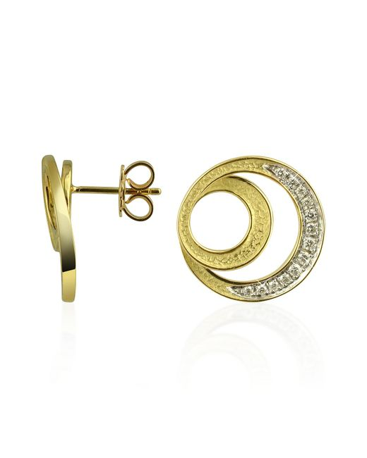 Torrini Metallic Infinity 18k Yellow Gold Diamond Earrings