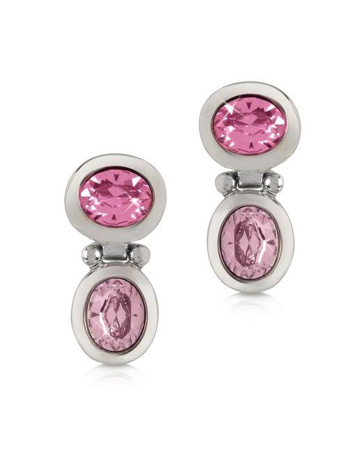 Forzieri - Pink Crystal Earrings - Lyst