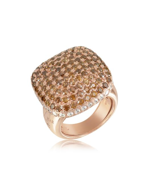 Azhar - Metallic Cubic Zirconia Sterling Silver Square Cocktail Ring - Lyst