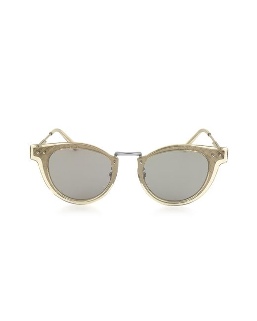43a62c625e Bottega Veneta - Metallic Bv0117s 004 Ruthenium Metal Frame Unisex  Sunglasses for Men - Lyst