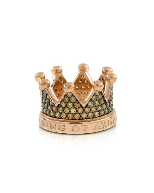Azhar - Metallic Re Silver And Zircon Crown Ring - Lyst