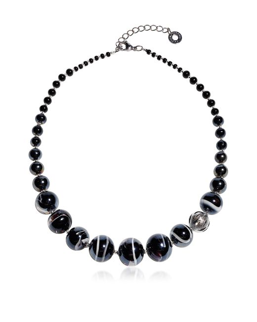 Antica Murrina | Optical 2 - Black Murano Glass Choker | Lyst