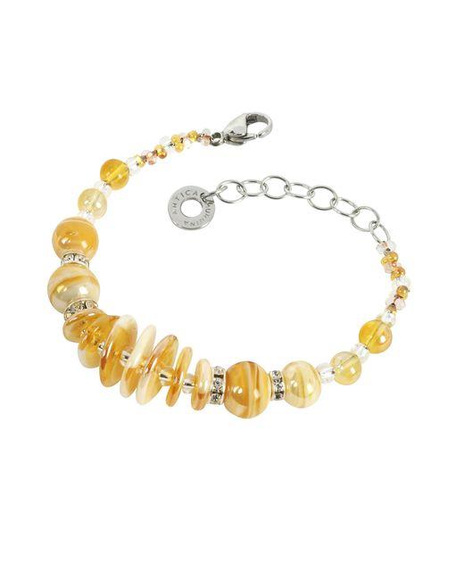 Antica Murrina | Metallic Liberty Light Gold Murano Glass Bracelet | Lyst