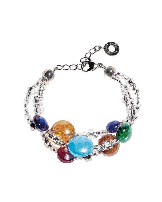 Antica Murrina | Redentore 1 - Multicolor Murano Glass Drops & Silver Leaf Bracelet | Lyst