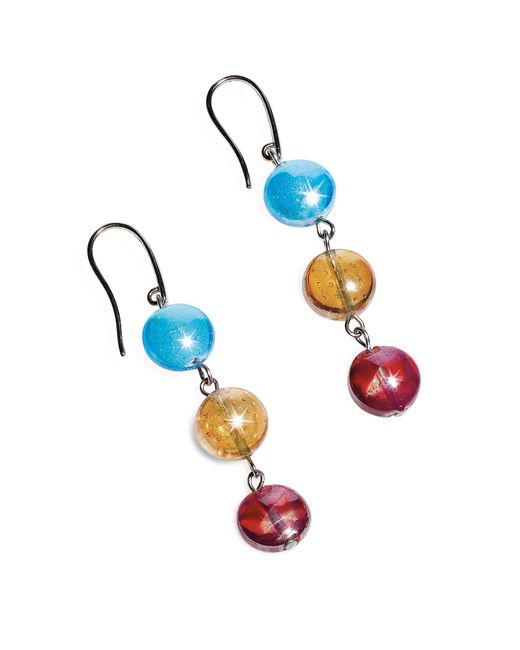 Antica Murrina | Redentore 1 - Multicolor Murano Glass & Silver Leaf Dangling Earrings | Lyst
