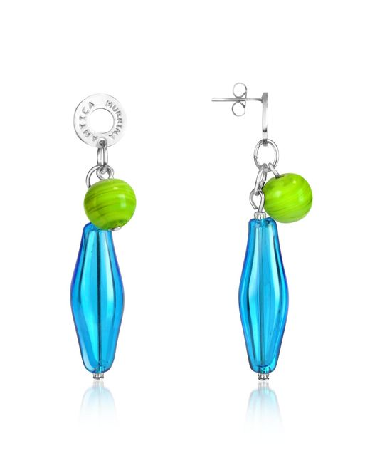 Antica Murrina | Blue Lana - Murano Glass Drop Earrings | Lyst