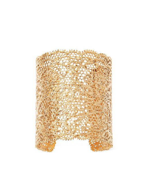 Aurelie Bidermann | Metallic Small Vintage Lace Gold Plated Cuff | Lyst