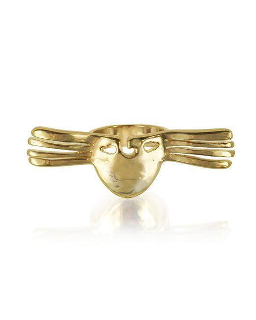 Aurelie Bidermann   Metallic Melina Winged Mask Ring   Lyst