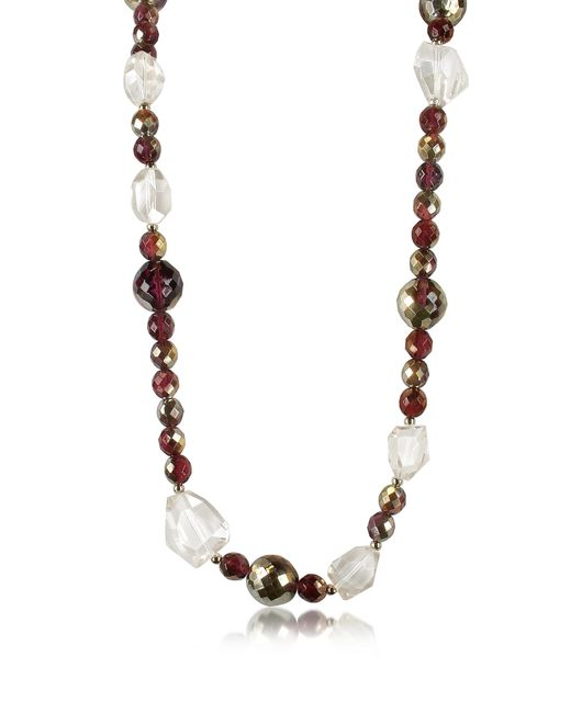 AZ Collection | Metallic Beaded Chain Necklace | Lyst