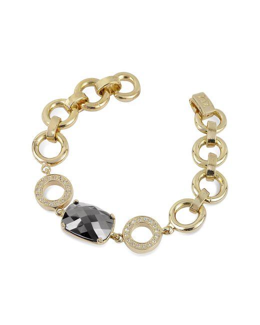 AZ Collection | Metallic Gold Plated Chain Bracelet | Lyst