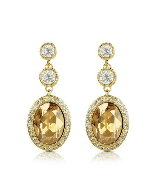 AZ Collection | Metallic Triple Drop Earrings | Lyst