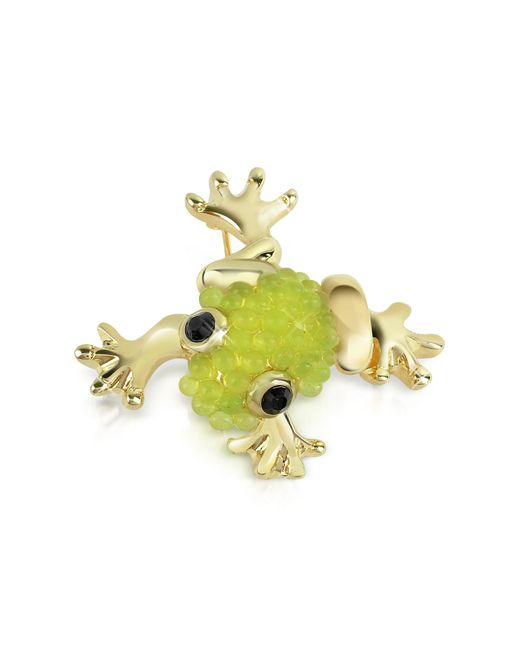 AZ Collection | Light Green Frog Brooch | Lyst