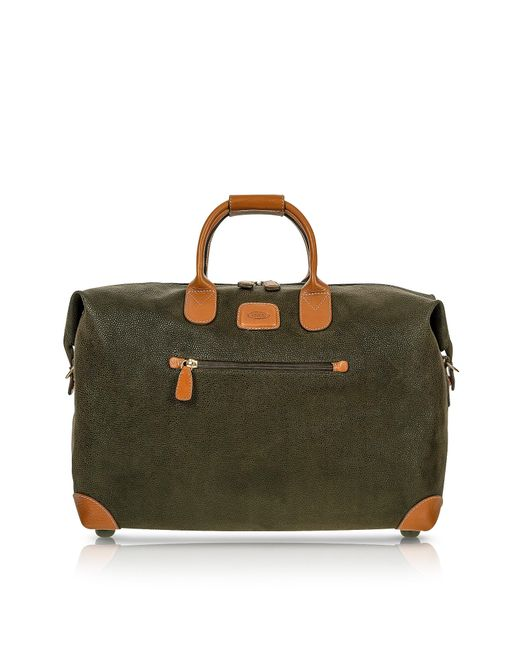 Bric's - Life - Olive Green Micro Suede 18'' Carry-on Holdall for Men - Lyst