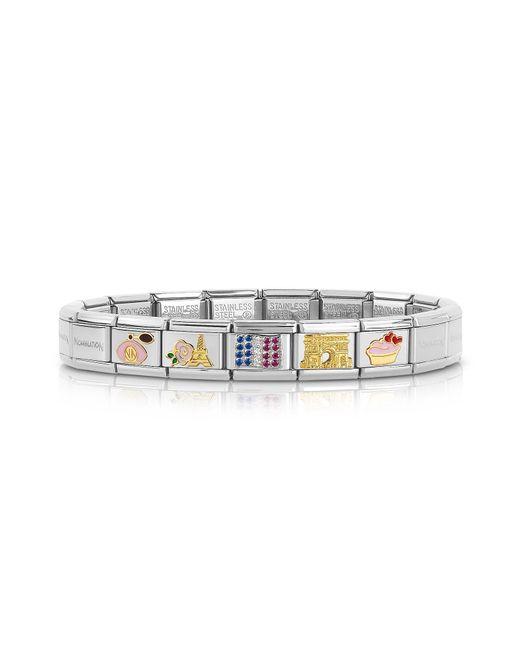 Nomination - Metallic Classic Francia Golden Stainless Steel Bracelet W/cubic Zirconia Flag for Men - Lyst