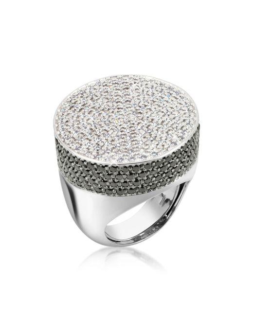 Azhar - Metallic Cubic Zirconia And Zircon Cocktail Ring - Lyst