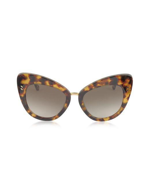 Stella McCartney - Brown Sc0037s Acetate Cat Eye Women's Sunglasses - Lyst
